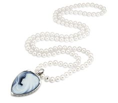 FRESHWATER CLASSICS - Perlenkette mit Gemme (Süßwasser Zuchtperlen)