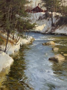 """"""" Donald Demers By the River Bend. """""""