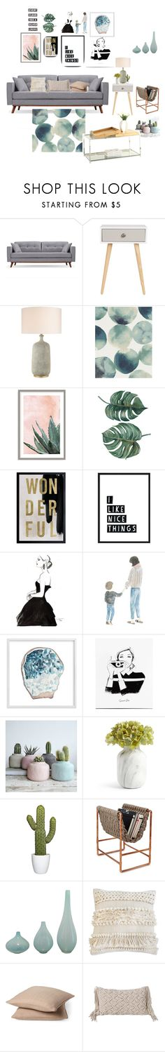 """""""Untitled #7"""" by jattumichelle ❤ liked on Polyvore featuring interior, interiors, interior design, home, home decor, interior decorating, West Elm, Art Addiction, Oliver Gal Artist Co. and Silver Lining"""