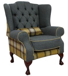 Superior design, elegant features and ideal use of skye red fabric, this Chesterfield Fredrick wing chair is best new age sofa. It is a must buy for your abode. Plywood Furniture, Funky Furniture, Sofa Furniture, Cheap Furniture, Furniture Design, Antique Furniture, Contemporary Furniture, Winged Armchair, Grey Armchair