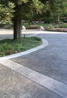 Stamped Concrete Driveways with Borders | Stamped Concrete Driveway with Border