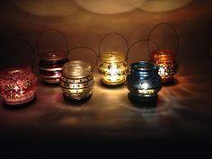 Luminárias - Reciclagem Vidro Facebook - O Quintal da Jacque