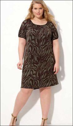 korean fashion leopard casual plus size dress | fashion