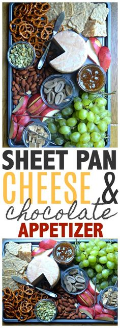 Sheet Pan Cheese and Chocolate Appetizer : makethebestofeverything
