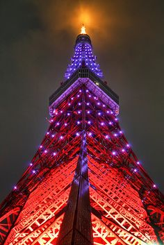 Tokyo Tower, Japan, need to see some hello kitty & Harajuku girls! Stirling Castle, Facade Lighting, Famous Castles, Tokyo Tower, Wanderlust, Tokyo Japan, City Lights, Amazing Architecture, Japan Travel