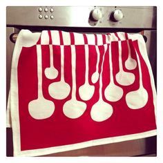 Tea Towel, 'Mushrooms', hand screen printed, eco friendly inks, linen, off white, red by BillieTheKidDesign on Etsy https://www.etsy.com/listing/202985839/tea-towel-mushrooms-hand-screen-printed
