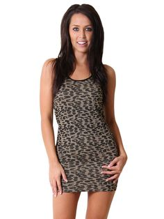 #Leopard Print #Dress ( VIP Fashion Australia www.vipfashionaustralia.com - cute dresses for cheap )