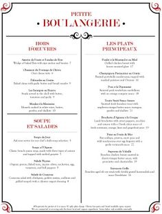 1000 Images About French Menus On Pinterest Menu