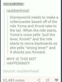 Disney Ride Based on Yzma and Kronk's Secret Lair