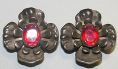 Jewelry earrings Sterling Silver with Ruby Red by TheIDconnection, $35.00    Jewelry earrings Sterling Silver & Ruby Red stones 1940's vintage http://TheIDconnection.etsy http://etsy.me/Ao8K.com Art Deco retro 40's 8w via @Etsy