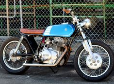 Yamaha XS400 Brat Tracker by Forge Cycleworks