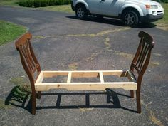 Two old chairs and some old pallet's.  What color do you think it should be?