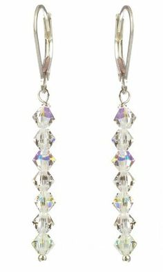 Sterling Silver Swarovski Elements Crystal and Crystal Aurora Borealis 4mm Multi-Bicone Earrings Amazon Curated Collection, http://www.amazon.com/dp/B003YXYUQU/ref=cm_sw_r_pi_dp_1B6trb01AMX0G