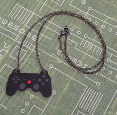 Playstation Video Game Controller Necklace