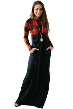 Hot Buffalo Print Top Long Maxi Dress on Sale from China manufacturer - Quanzhou Yimao(Sany Shoes) Imp. Women's A Line Dresses, Simple Dresses, Maxi Dresses, Evening Dresses, Fashion Dresses, Cheap Dresses Online, Dress Online, Gingham Dress, Lady