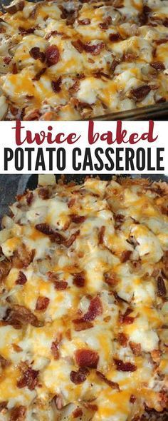 Potato Casserole an easy 4 step delicious dinner recipe that everyone will love! potatoes, bacon and cheesy goodness!Baked Potato Casserole an easy 4 step delicious dinner recipe that everyone will love! potatoes, bacon and cheesy goodness! Twice Baked Potatoes Casserole, Casserole Dishes, Cheap Casserole Recipes, Loaded Potato Casserole, Potatoe Casserole Recipes, Cheap Recipes, Chicken Casserole, Breakfast Casserole, Easy Recipes