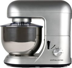 Andrew James 1500 WATT Electric Food Stand Mixer In Stunning Silver With Splash Guard and 5.2 Litre Bowl + Spatula + 128 Page Food Mixer Cookbook Andrew James http://www.amazon.co.uk/dp/B00HH494B8/ref=cm_sw_r_pi_dp_o2otub1FTPMZ5