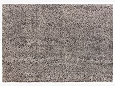 BROKEN LINES NEUTRAL Wool Large black and white wool rug 170 x 240cm - HabitatUK
