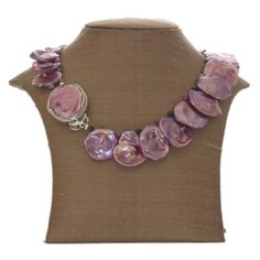 Pink Petal fresh water pearl necklace - extremely rare in size & lustre!