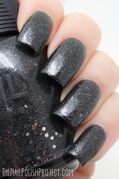 Masked Ceremony is a charcoal grey jelly polish loaded with fine silver flakes to give a textured appearance. Nail Polish Brands, Black Nail Polish, Nail Polish Colors, Nail Polishes, Pretty Nails, Fun Nails, Nail Envy, Fancy Hairstyles, Brand Me