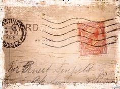 1928 Envelope ~ Polaroid transfers of old British memorabilia
