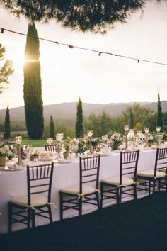 Outdoor Reception Styling / An Intimate Tuscan Wedding  (instagram @the_lane)