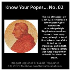 Know your popes: Innocent VIII