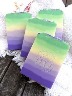 "Shieh Design Studio - beautiful ""Wisteria Lane"" eight-layered gradient cold process soap."