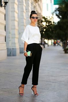 white with black
