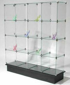 Glass Display Floor Handbag Display