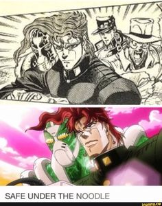 Kakyoin and Emerald Splash