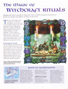 The magick of witchcraft rituals