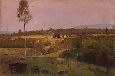 Tom ROBERTS 'Evening, when the quiet east flushes faintly at the sun's last look'