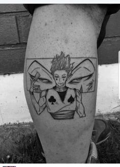 Hisoka tattoo – Hunter x Hunter Weird Tattoos, Dope Tattoos, Anime Tattoos, Dream Tattoos, Future Tattoos, Body Art Tattoos, Small Tattoos, Hisoka, Hunter Tattoo
