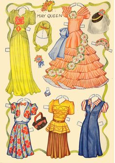 Marges8's Blog | Paper Dolls – Greeting Cards – Paper Handicrafts* For lots of free paper dolls International Paper Doll Society #ArielleGabriel #ArtrA thanks to Pinterest paper doll collectors for sharing *