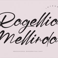 Ragellia Mellinda feels incredibly elegant and flowing. It looks stunning on wedding invitations, thank you cards, quotes, greeting cards, logos, business cards and every other design which needs a handwritten touch. It features a varying baseline, smooth lines, gorgeous glyphs and stunning alternates. Invitation Writing, Smooth Lines, Handwriting Fonts, Product Packaging, Product Design, Business Cards, Script, Wedding Invitations, Greeting Cards