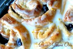 Lemon Blueberry Cheesecake Morning Rolls...The Best Rolls Ever! - Bunny's Warm Oven