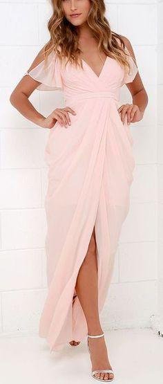 b05a6d4f004 Bariano Graze-ful Dancer Peach Maxi Dress