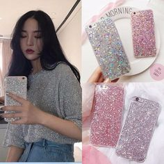 Cases, Covers & Skins Case Cover For Iphone 7 7 Plus/ 8 Plus Soft Silicone Bling Glitter Shockproof Iphone 8 Plus, Skins For Iphone 6, Iphone Phone, Used Iphone, Iphone Cases, Girl Phone Cases, Glitter Slime, Bling, Silicone Phone Case
