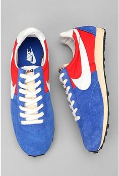I want these in a bad why. Nothing  screams America like Nike blue white, and. red shoes