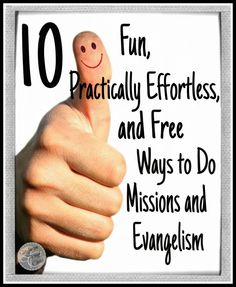 10 Free Ways to Do Missions and Evangelism | Satisfaction Through Christ | Are you looking for a free (and practically effortless) way to share the Gospel with others? Here are 10 ideas to get you started!