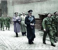 VE-day in Europe and Admiral Doenitz under British army guard