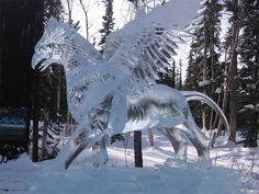 Sculptures de neige et de glace