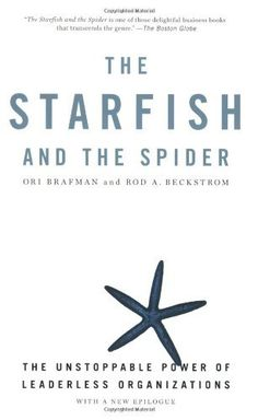 The Starfish and the Spider: The Unstoppable Power of Leaderless Organizations by Ori Brafman, http://www.amazon.com/dp/1591841836/ref=cm_sw_r_pi_dp_wXv2pb0JHVKH3