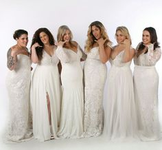 Curvy brides in stunning plus size wedding dresses. Studio Levana. Beautiful in every size