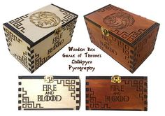 Wood box Game Of Thrones     #chibipyro #artisan #craft #shop #leather #wood #woodburning #fire #fan #art #artisan #craft #handmade #etsy #shop #pyro #pyrography #burn #burning #fire #drawing #woodburner #cork #recycled #purse #comb #hairbrush #note #book #sketch #tobacco #pouch #bookmark #pochette #box #pencil #case