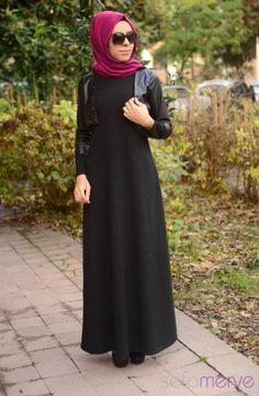 Tesettür Elbise Siyah
