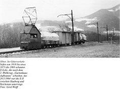 links(in Seitenansicht Führerhaus rechts) EII zw. Haaber und Reichenau 24.3.1964