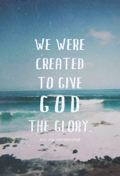 giving God glory