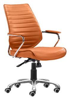 Zuo Modern Enterprise Low Back Office Chair Terra